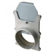 Vanne d'arrêt en aluminium Ø 100 mm